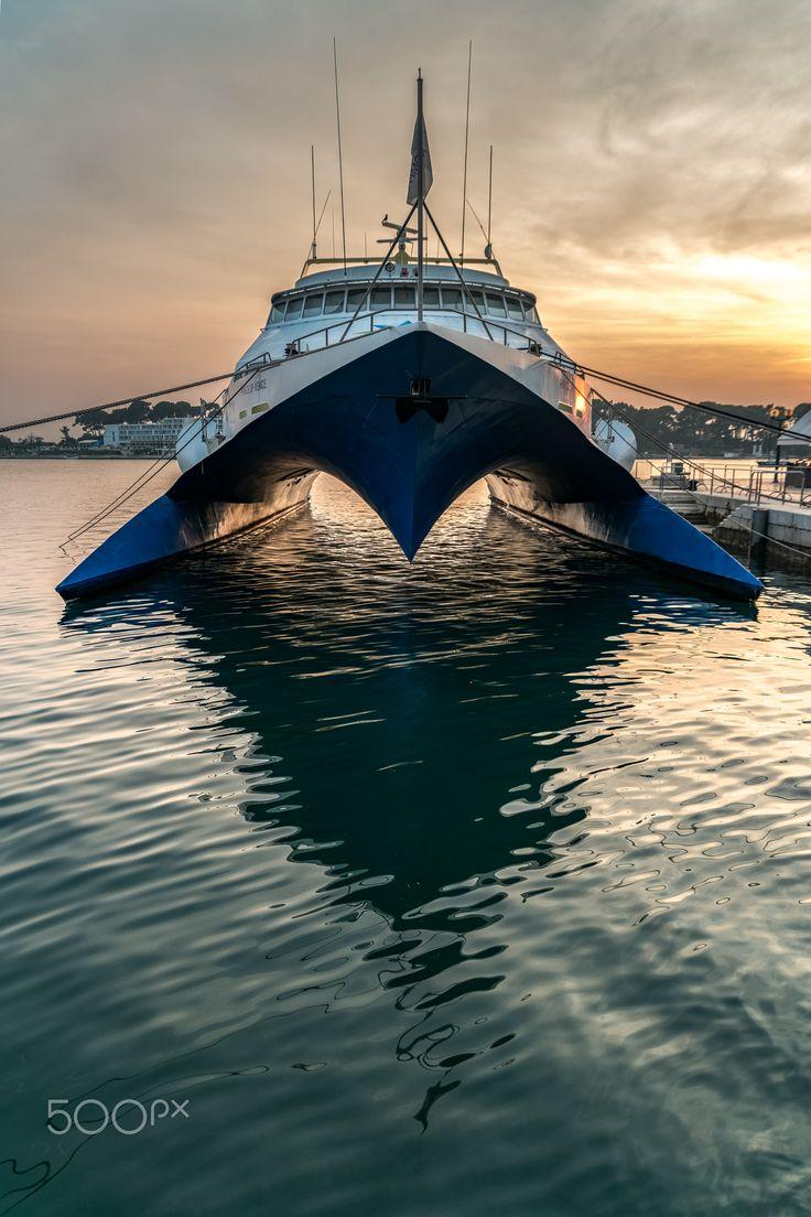 Prince of Venice - futuristic catamaran yacht in Poreč,  Croatia