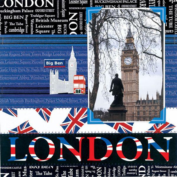 London England Scrapbooking Paper www.scrapbookdiscounters.com