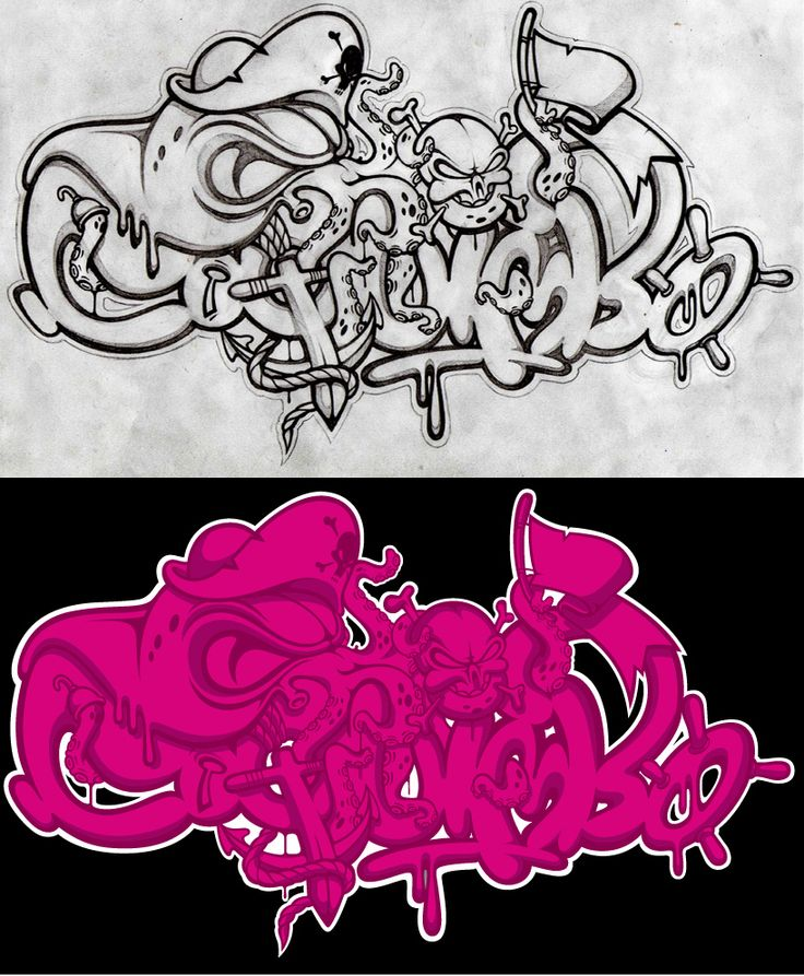 sketch and final...