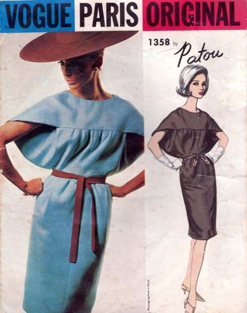 Vintage Vogue Patou dress pattern from http://www.etsy.com/shop/allthepreciousthings?ref=si_shop
