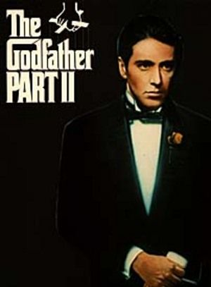 The Godfather: Part II (1974)  The early life and career of Vito Corleone in 1920s New York is portrayed while his son, Michael, expands and tightens his grip on his crime syndicate stretching from Lake Tahoe, Nevada to pre-revolution 1958 Cuba.
