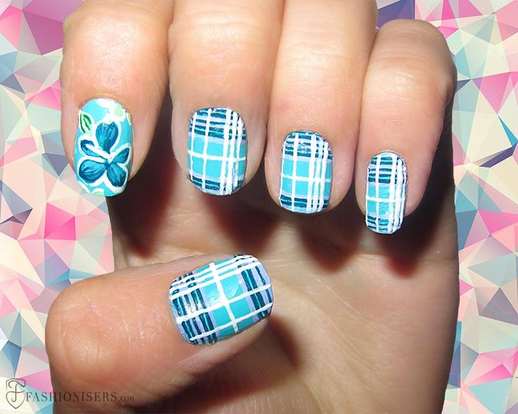 12 Modern Checkered Nail Art Designs  #nailart #nails #naildesign