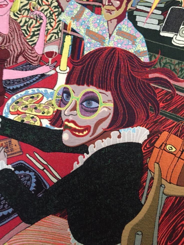 Tapestry detail by Grayson Perry