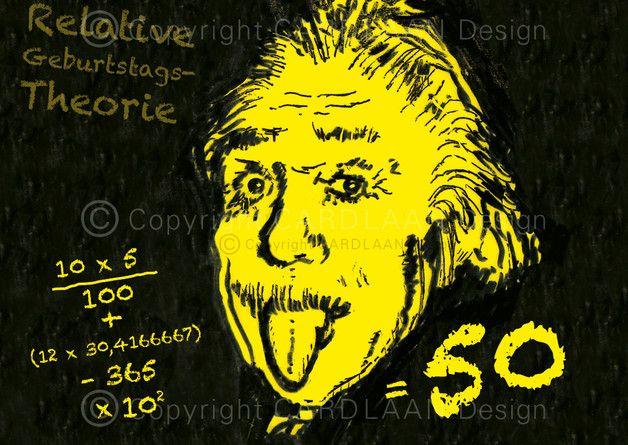 Einladung 50. Geburtstag (Einstein)