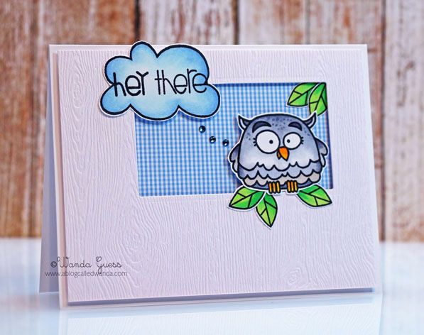 Hey There #card by Wanda Guess #PaperSmooches