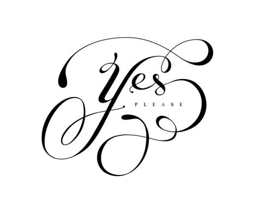 yes man yes man! Saying yes more than no=seizing opportunities (not referring to overloading your schedule here, more stepping out in faith and going on adventures:)