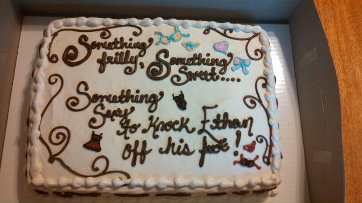 Lingerie shower cake