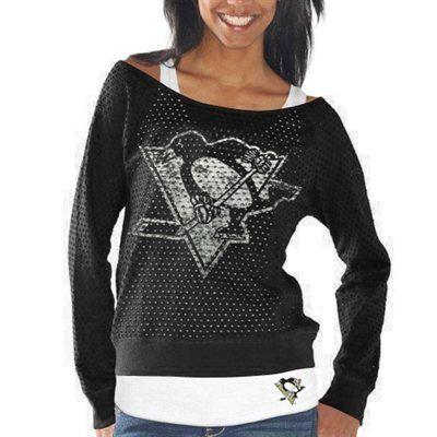 G-III 4Her Pittsburgh Penguins Ladies Holy Sweatshirt & Tank Set - Black
