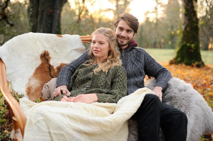 Men's & Ladies Handknit Aran Sweaters - www.standun.com
