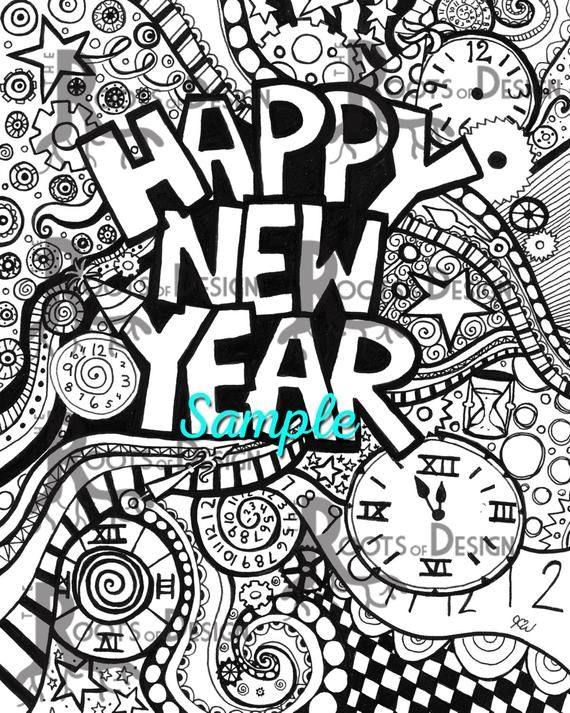 Happy New Year Doodle 98