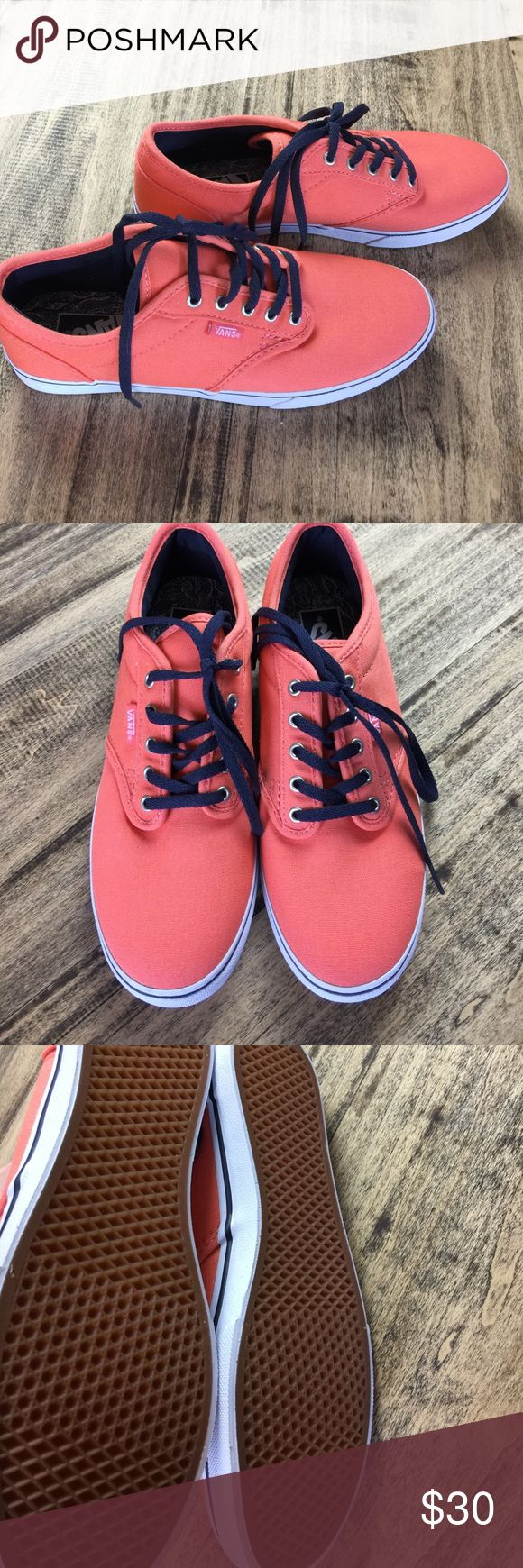 VANS melon/orange sneakers Women's 6 NEW shoes VANS melon/orange sneakers Women's 6 shoes. New without box, never worn just tried on. Vans Shoes Sneakers