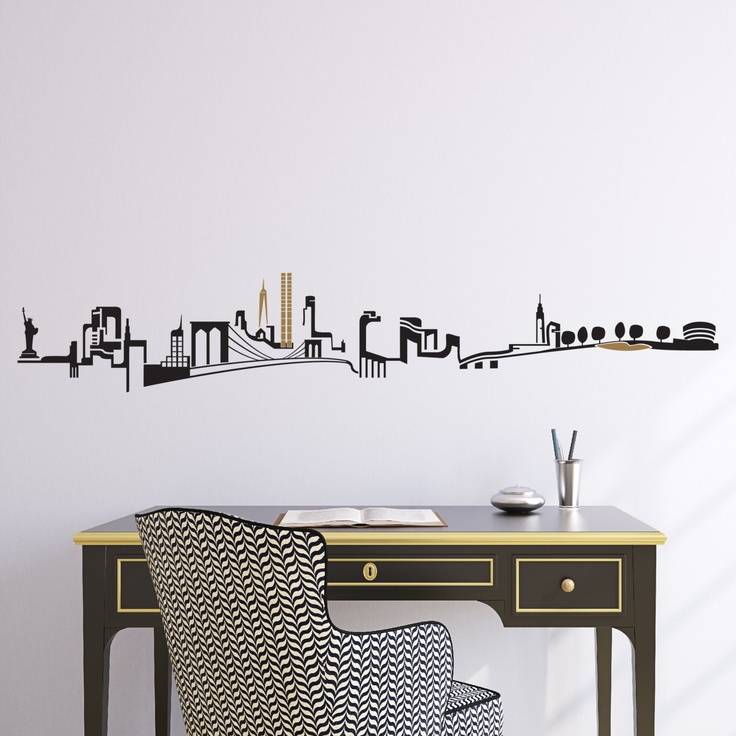 NY Skyline Wall Decal For Babyu0027s Room (above Crib) Part 54