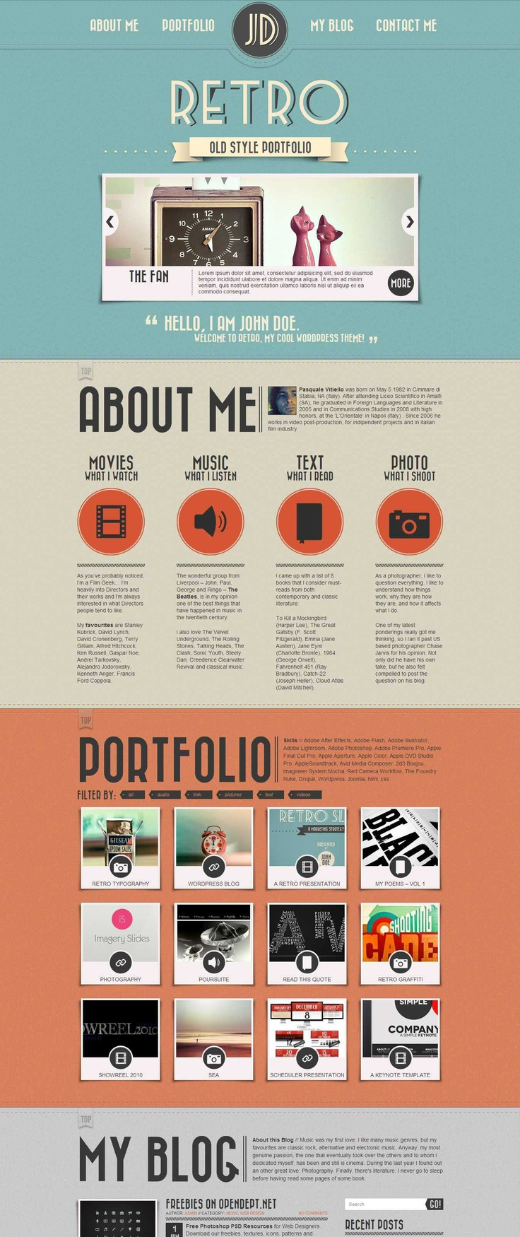 Nice Retro WordPress theme!!!  I love this theme. So easy to use and maintain -- http://techagent99.com