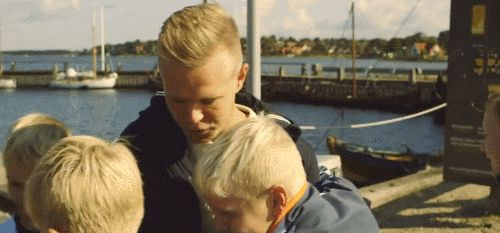 Kevin Magnussen gives out the hugs at the Sochi qualifying.
