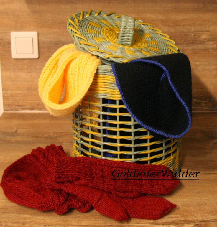 Плетение из газетных трубочек: Использование упаковочной ленты в плетении. Цилиндр. Круглая форма.