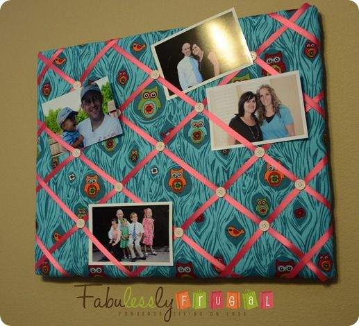 25 best ideas about photo boards on pinterest picture for Diy fabric bulletin board ideas