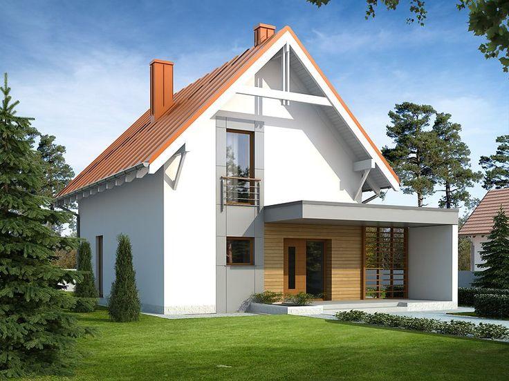 ZEO 2 NF40 to niewielki jednorodzinny budynek mieszkalny, parterowy z użytkowym poddaszem, niepodpiwniczony. Mimo niewielkich gabarytów zawiera w sobie optymalny układ pomieszczeń odpowiadający potrzebom 4-osobowej rodziny.