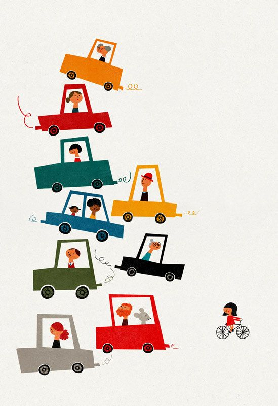 Traffic jam big print. #illustration