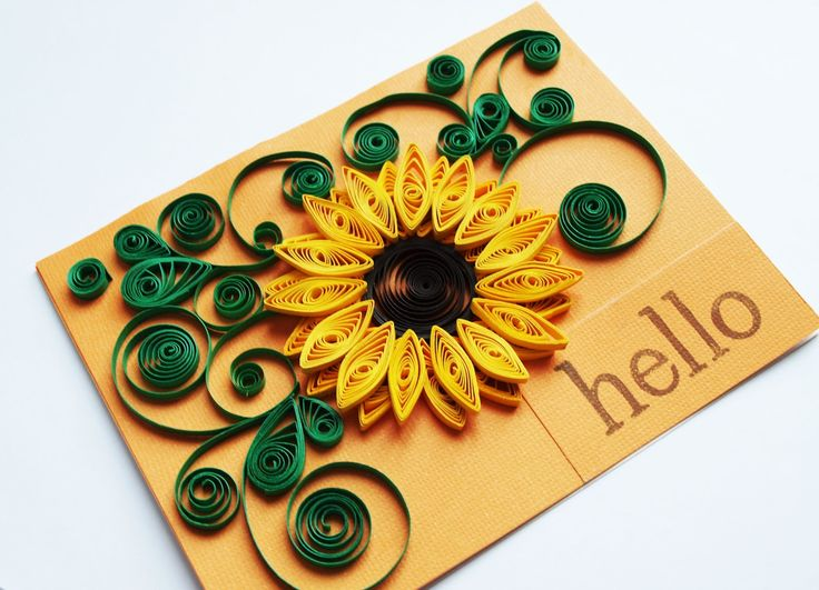 sunflower quilling - Google Search