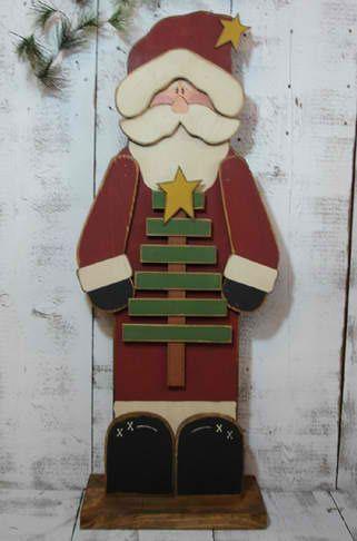 christmas wood crafts  | Santa Wood Craft | Christmas Crafts