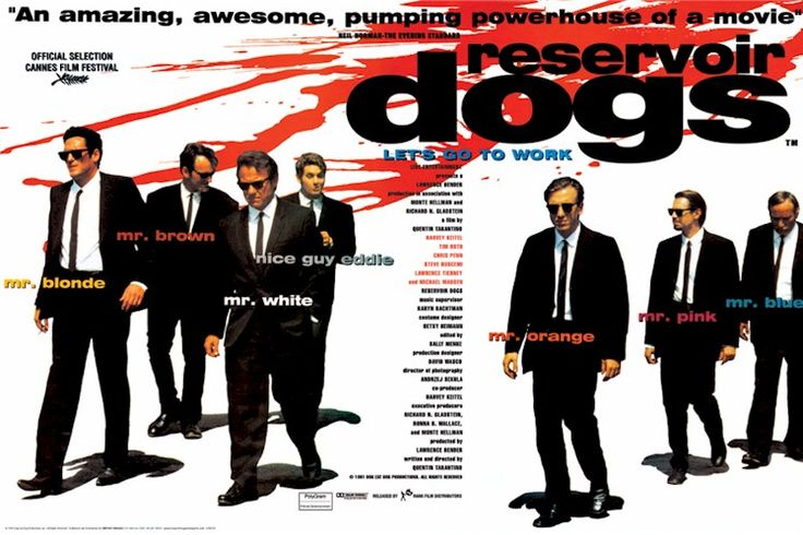 A quad poster for the film for #reservoirdogs starring #HarveyKeitel, #TimRoth and #MichaelMadsen and directed by #QuentinTarantino