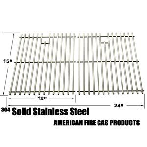 2 PACK STAINLESS STEEL REPLACEMENT COOKING GRID FOR SUNBEAM, BROIL KING 345, 42, 545, 550, 645, 655, 745, 750, 900, 945, 950, 955, 9959-74 AND JACUZZI JC-4010, JC-4020, JC-4020-LPPC, JC-4020-NPB, JC-4020-NPC, JC-4020-NPM GAS GRILL MODELS Fits Compatible Sunbeam Models : SG7522RPB , SN5500EP , SN5500EPB , SN6501EPB , SN7521YPB , ST5500HP , ST5501EPB , ST5502RPB , ST5533R , ST5533RPB , ST6501EPB , ST6502RPB , ST6533R , ST6533RPB , ST7520EPB , ST7520SP , ST7521E , ST7521EPB , ST7521YPB…