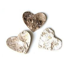 80pcs Heart Shaped Wood Log Slices for DIY Crafts Wedding Centerpieces(China (Mainland))
