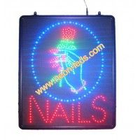 Nails Led Sign, Manufacturer with 2 years of quality warranty, 100% undamaged guaranteed.