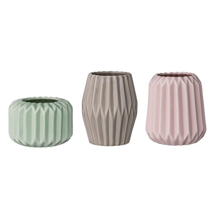 Plissé lyslykt 3-pack, pastell i gruppen Innredningsdetaljer / Dekorasjon / Lyslykter & Lysestaker hos ROOM21.no (129252)