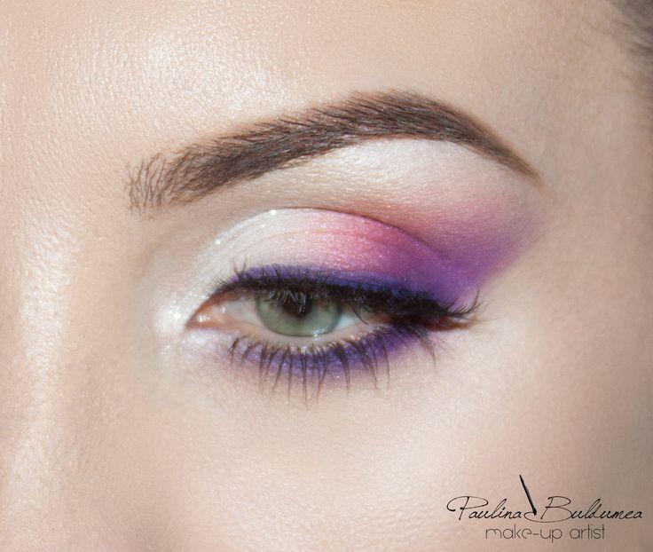 Pencil makeup technique. I love color on my make-up. Tip: i use mink eyelashes for natural but wow effect. Make-up artist & trainer Atelier Paris Bucharest Paulina Buldumea