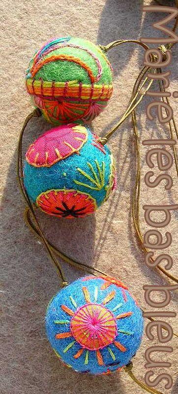✄ A Fondness for Felt ✄  felted craft diy inspiration - colorful balls