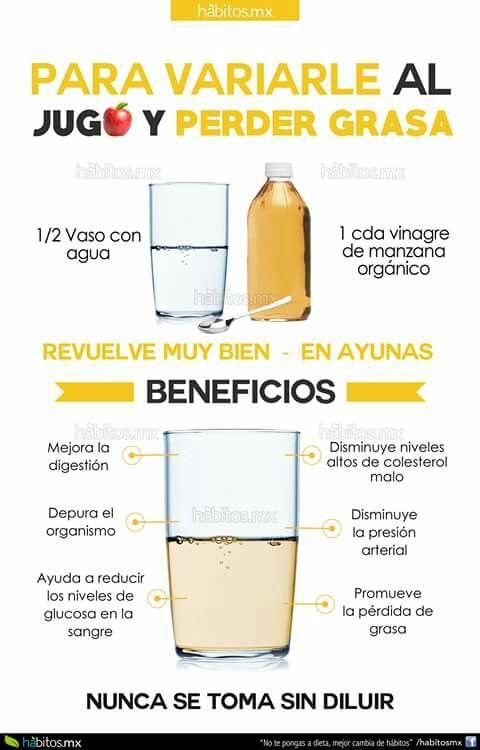 Beneficios del vinagre de manzana.