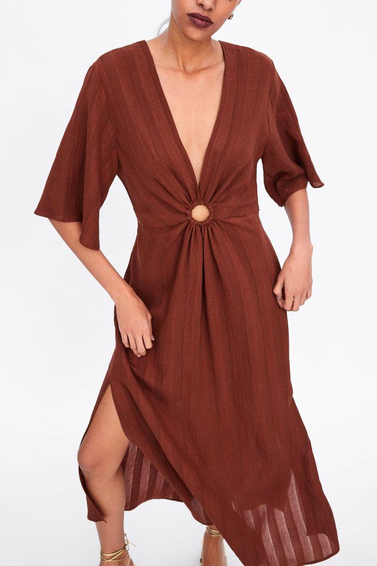 dress with ring detail kleider kleider fuer frauen kurze kleider