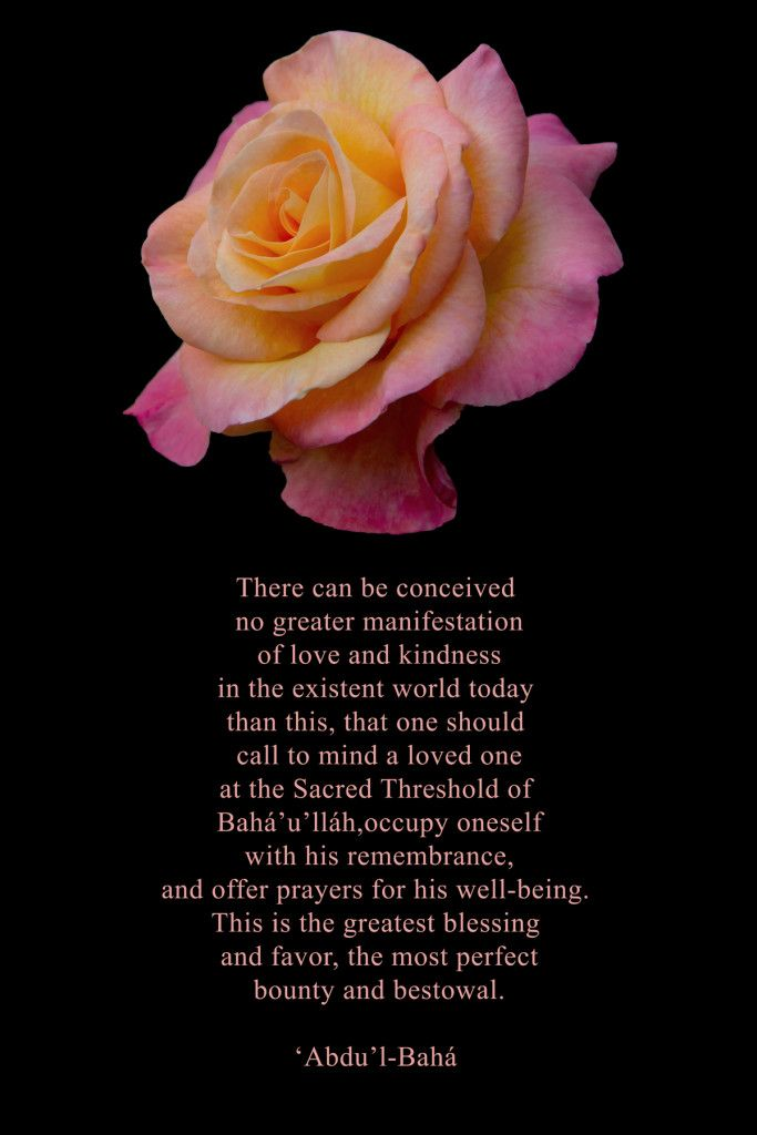 Baha I Writings Quote From Abdu L Baha On The Blessings And