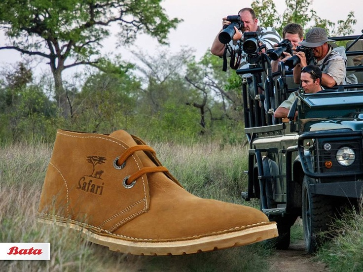 """Safari Boots 48th anniversary: Since 1965 """"The boots that say you know Africa"""" #batashoes"""