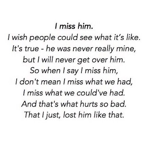 This is unbelievably accurate. It's crazy cause i lost someone before i had them and before i even realised that i wanted them, but that future was an illusion my heart had long ago created in secret and was waiting for... i guess that's what happens when a heart that is never used is stolen, you don't realise until it's too late