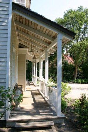 Mooie veranda - als droge instap in huis