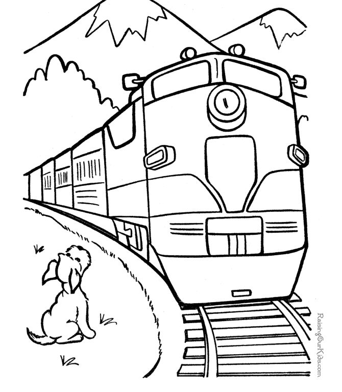 34 best coloring pages images on Pinterest  Trains Coloring and