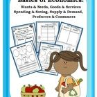 This 34-page ELA/SS unit has everything you need to introduce the basics of economics to your students!  It includes wants, needs, goods, services,...