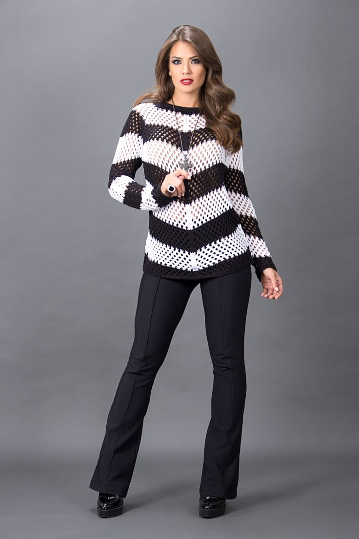 Dokk Tricot - Inverno 2016 - blusa rendada lã