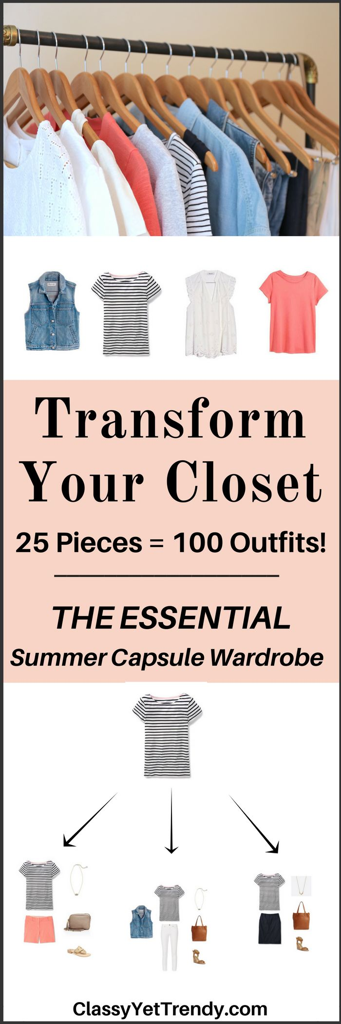 Create A Summer Capsule Wardrobe On A Budget! This Post Is A Preview Of The