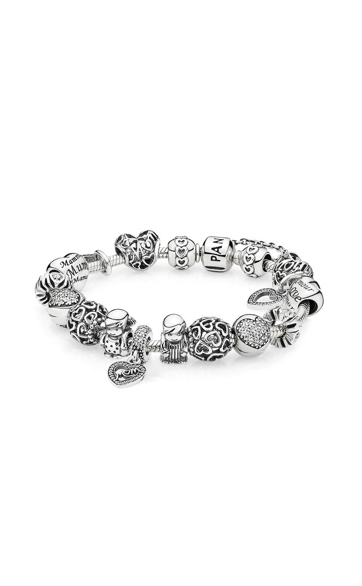 Create A Cute Bracelet With Charms That Celebrate World's Best Mom #pandora  #pandorabracelet