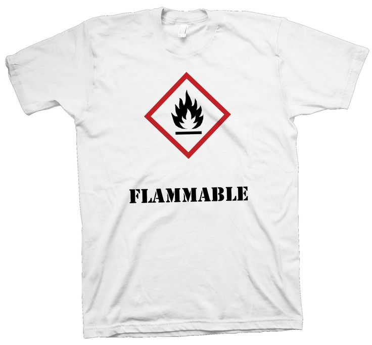 Science T-Shirt , Flammable Chemistry Safety Tee Nerd Geek Scientist Hot Funny - T-Shirts