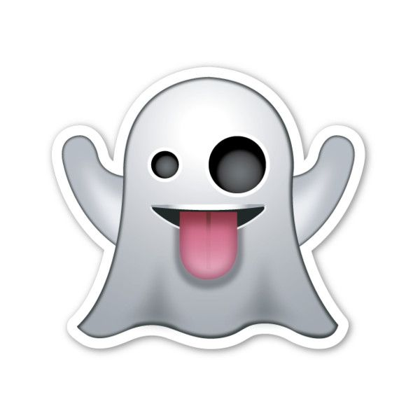 Ghost ($1) ❤ liked on Polyvore featuring home, home decor, emoji and fillers