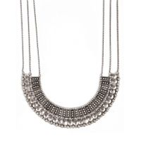 #Necklace #LUCKY BRAND Collier argenté à rangs multiples