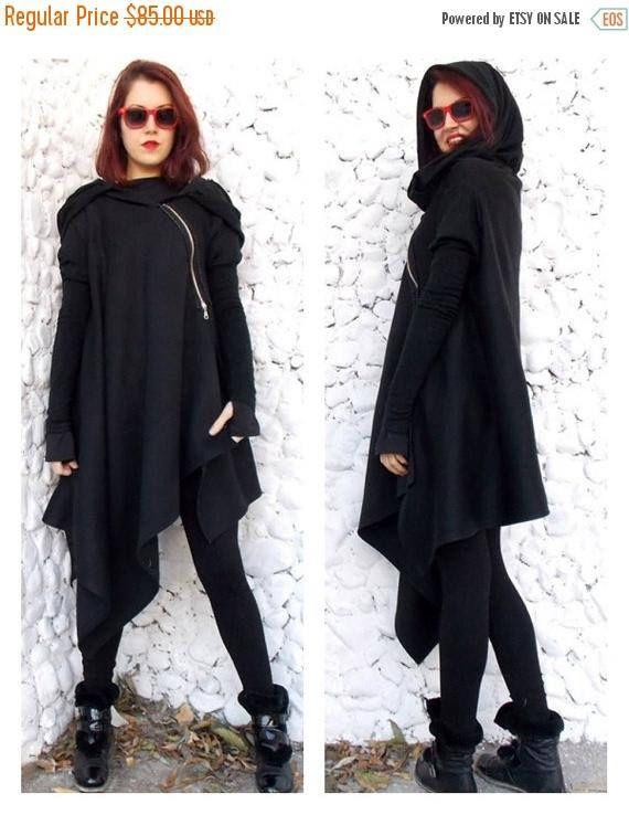 SALE 15% OFF Asymmetric Extravagant Black Coat Black https://www.etsy.com/listing/174021805/sale-15-off-asymmetric-extravagant-black?utm_campaign=crowdfire&utm_content=crowdfire&utm_medium=social&utm_source=pinterest