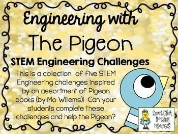 "This STEM Challenge Pack is based on the books in The Pigeon series (Don't Let the Pigeon Drive the Bus!"" and more), by Mo Willems."