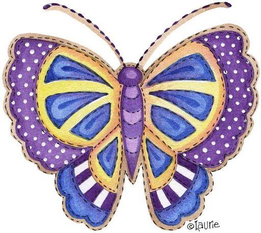 Mariposas de colores para imprimir - Imagenes y dibujos para ...
