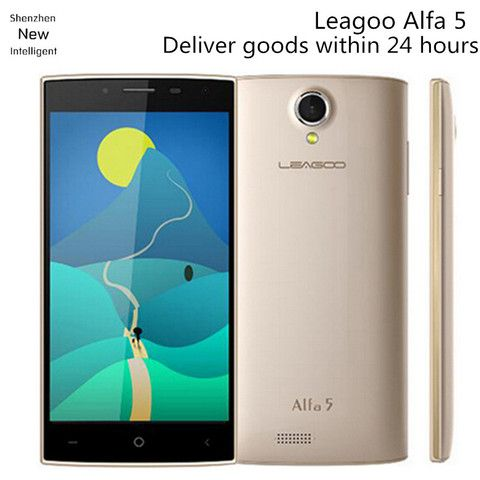 "Original Leagoo Alfa 5 ALFA5 SC7731 Quad Core Mobile Phone 5.0"" 1280x720 1GB RAM 8GB ROM Android 5.1 8.0MP Dual Sim GPS WCDMA 3G"