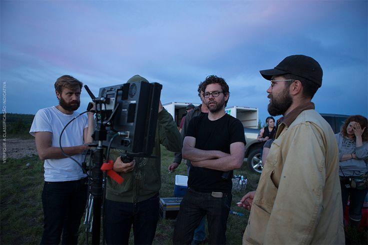 O diretor Robert Eggers e os produtores de #ABruxa. #MakingOf #Terror #Cinema